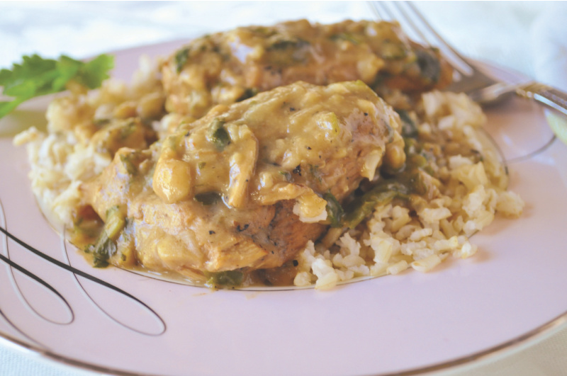 Holly Clegg's Smothered Chicken