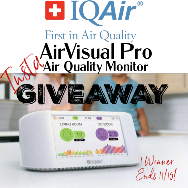 AirVisual Pro IQAir Giveaway