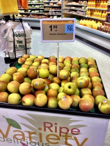 Organic Apples on Sale, Publix
