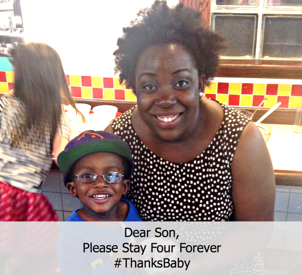 Dear Son, Please Stay Four Years Old Forever #ThankBaby ~ MommyTalkShow.com