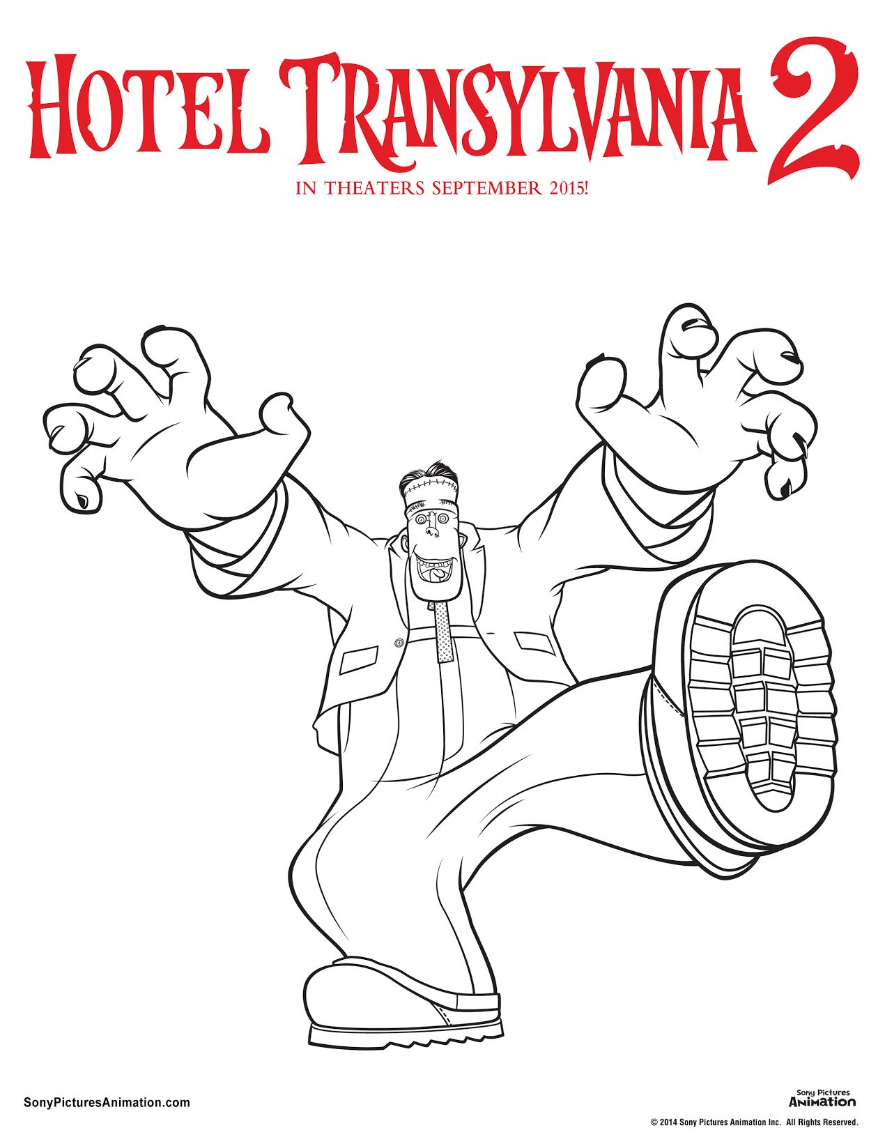 Hotel Transylvania 3 Coloring Pages for Kids, How to Draw Hotel ... | 1644x1270