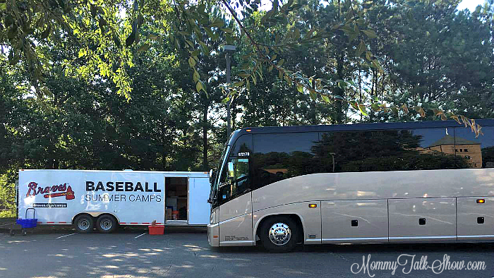 Braves Baseball Camp Bus