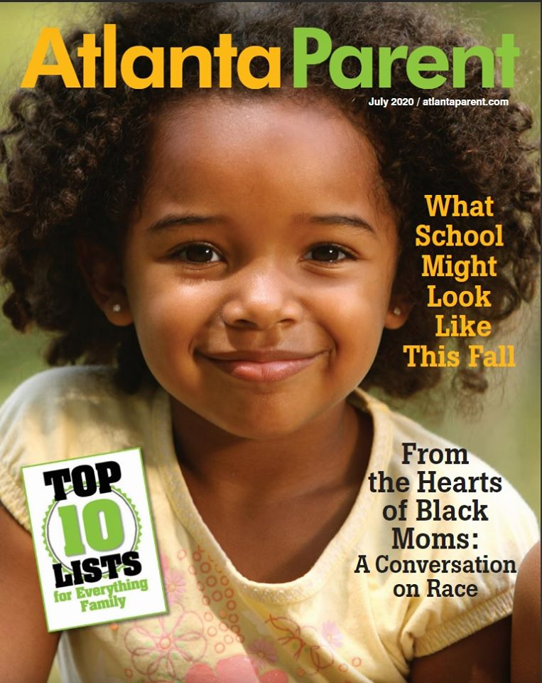 Atlanta Parent Magazine Cover With African American Girl on Cover