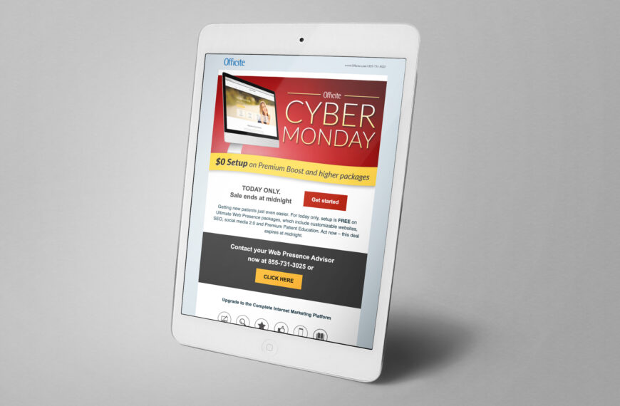 Cyber Monday Email