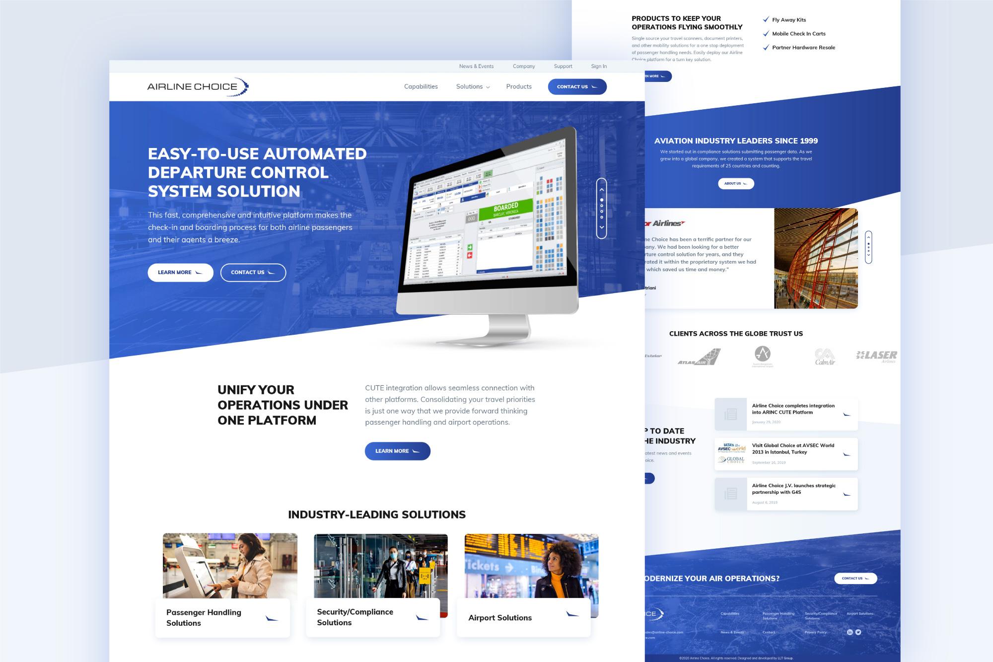 Aviation SaaS Website