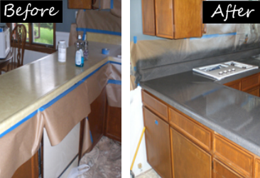 Bath Tub Refinishg and more Countertop Refinish Before & After