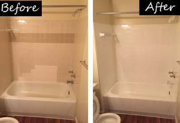 Tub and Tile Before & After