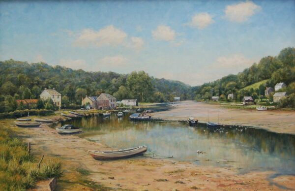 Traditional landscape painting in oil by Mervyn Goode