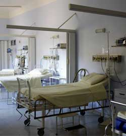 bed-empty-equipments-floor