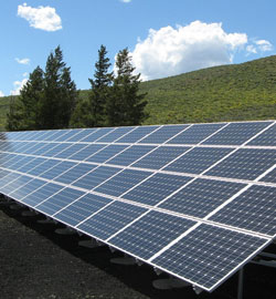 black-and-silver-solar-panels