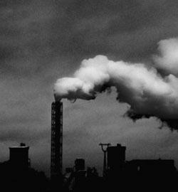 monochrome-photo-of-industrial-plant