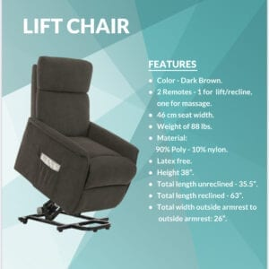 Lift Chairs: 300 lbs and under