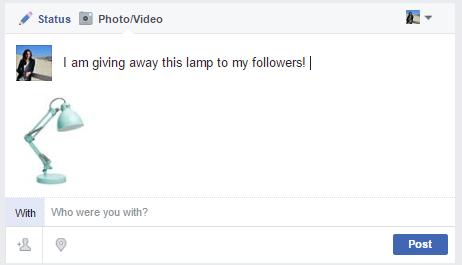Facebook post example CTA