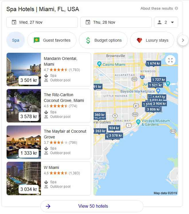 local seo spa hotel miami