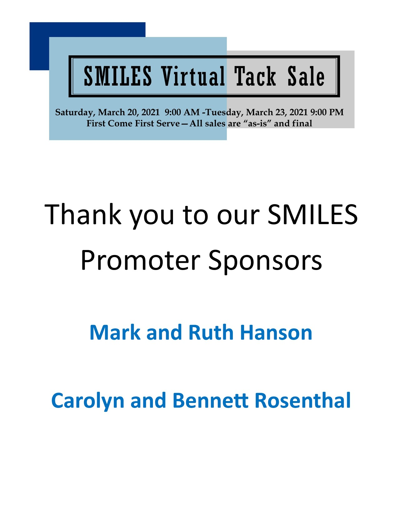 SMILES Promoters sponsors