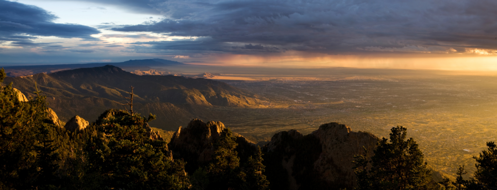View of Albuquerque from Sandia Mountains