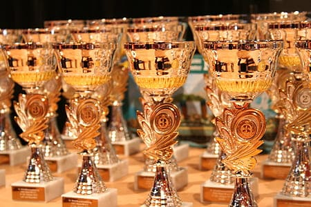 Trophies and Cups associated with sports_Study4success