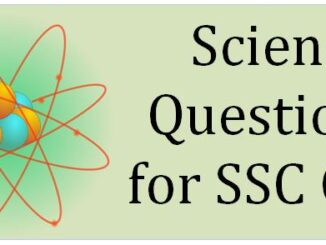 Science Questions for SSC