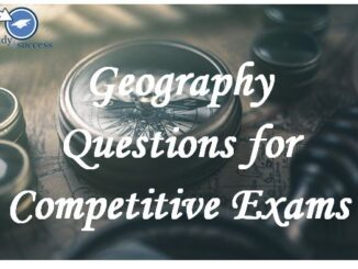Geography Questions SSC