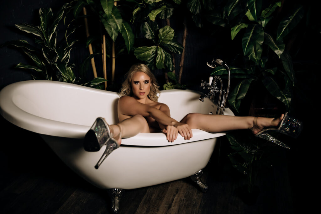 shoes in the tub