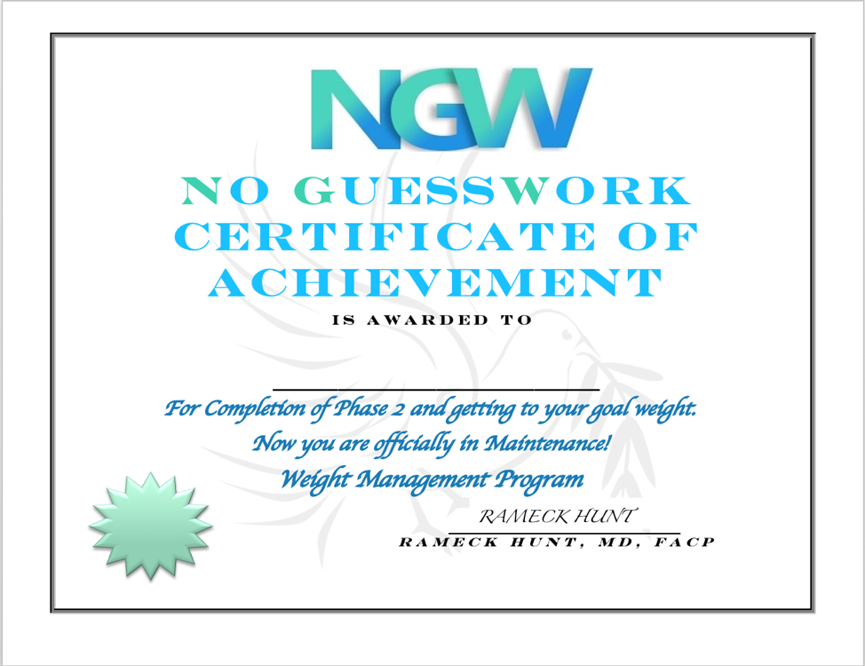 NGW Certificate completion of phase 2