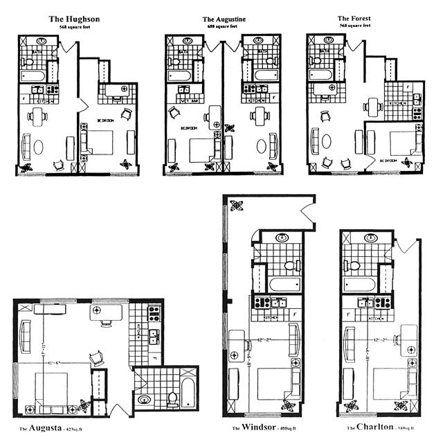 Seniors' Apartments in Hamilton - Floorplans