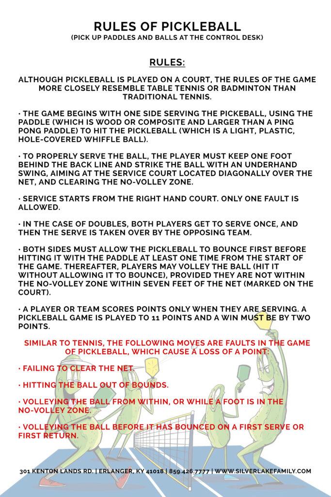 Pickleball Rules Poster