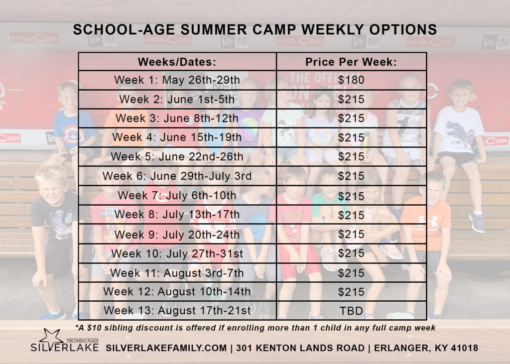 School Age Summer Camp Card 2019