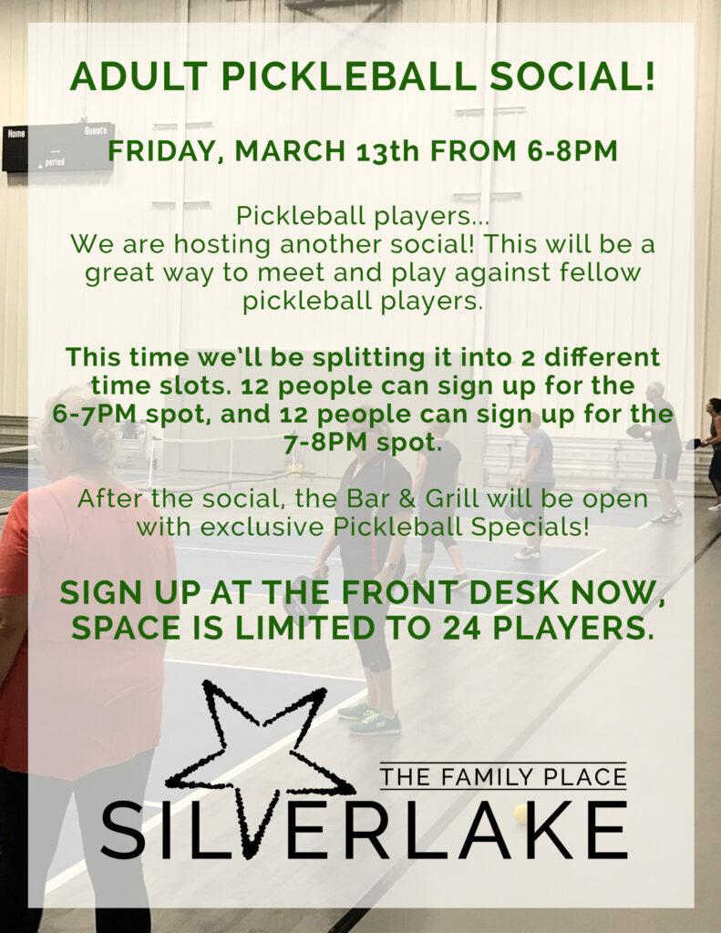 Pickleball Social Flyer March 2020