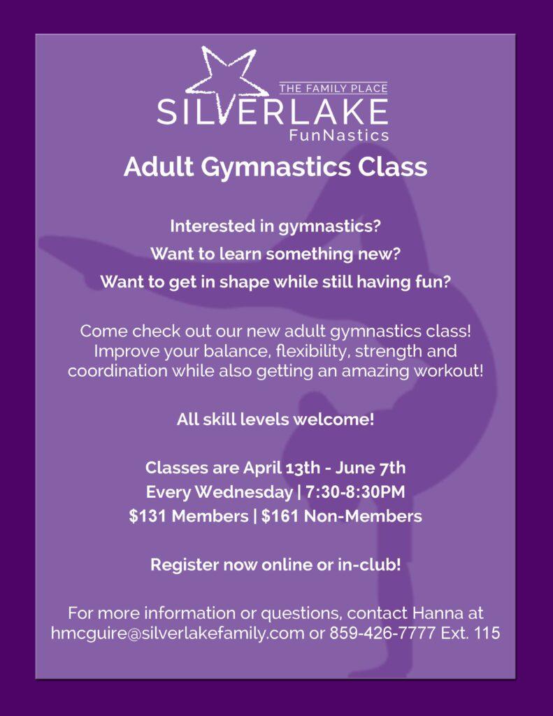 Adult Gymnastics Class Flyer Spring 2020