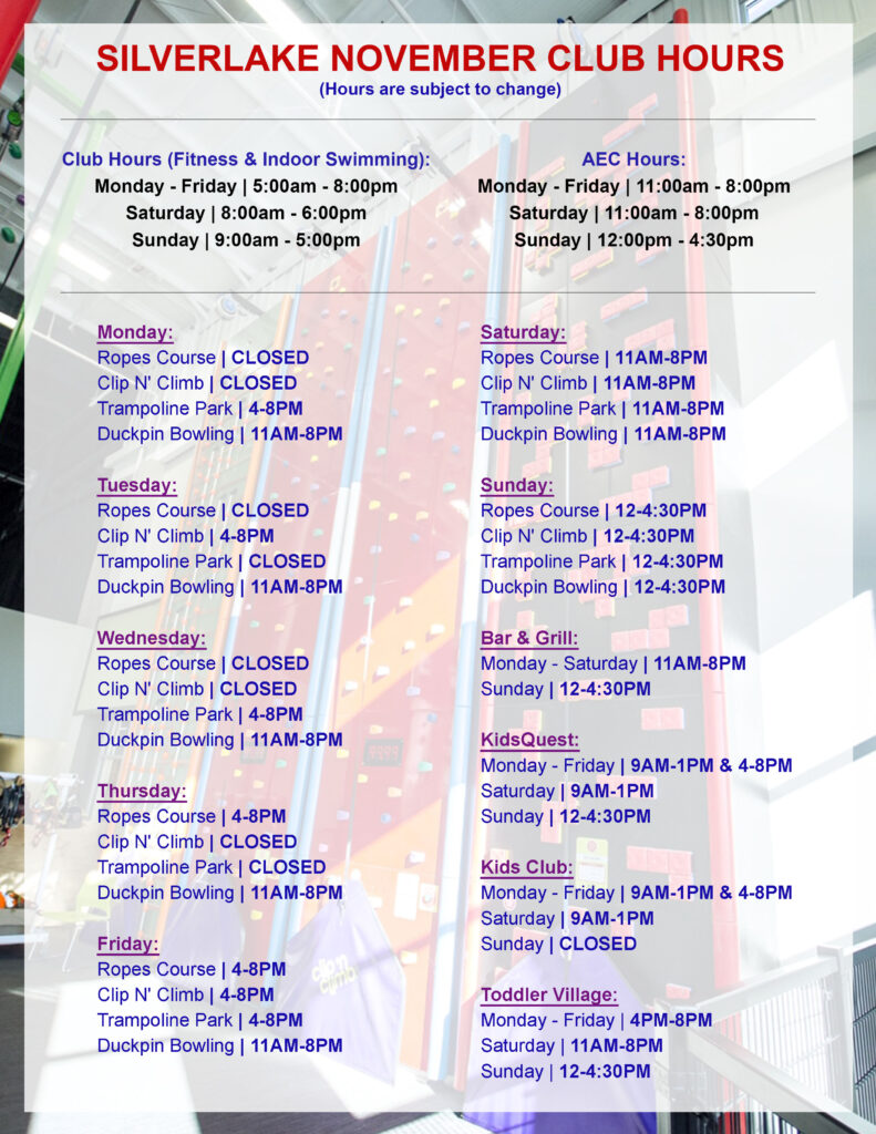 November 2020 Club Hours AEC
