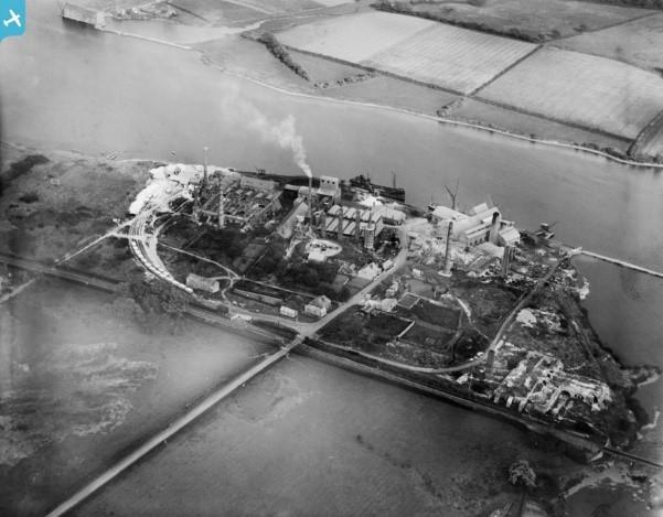 1926 Aerial photo of West Medina Mill