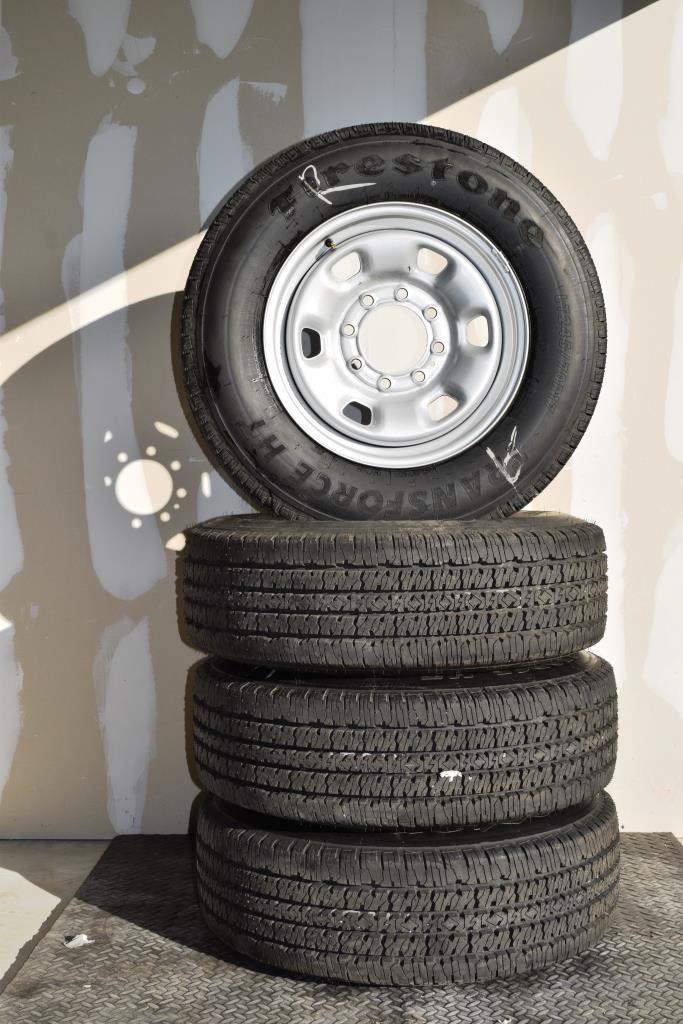 Dodge Ram 2500 Steel 17 inch wheels firestone transforce ht tires