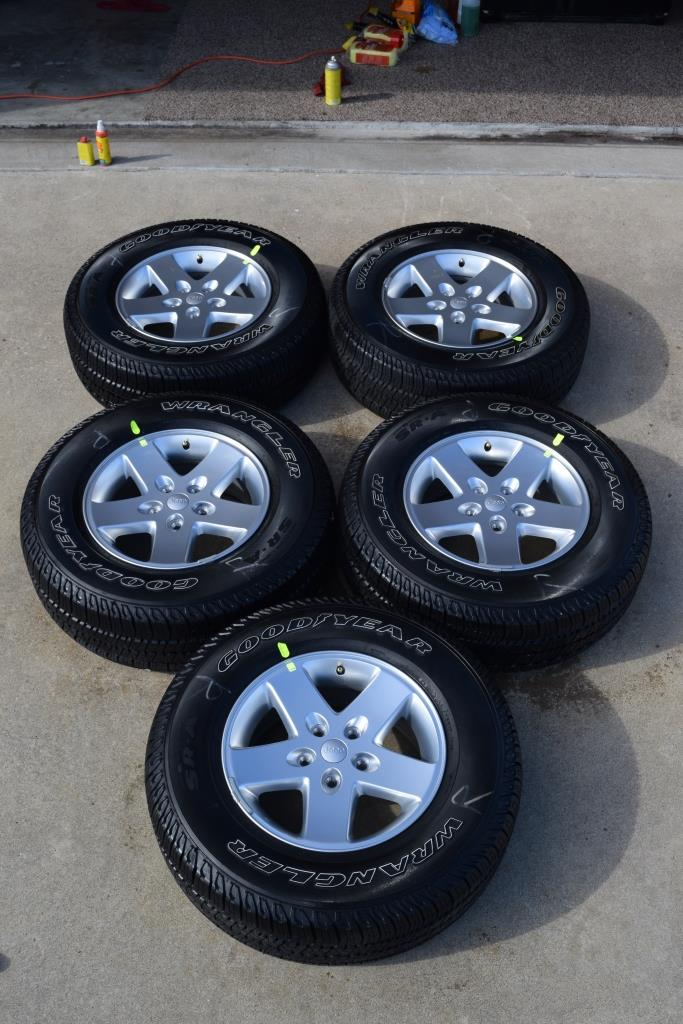 jeep wheels goodyear tires for sale
