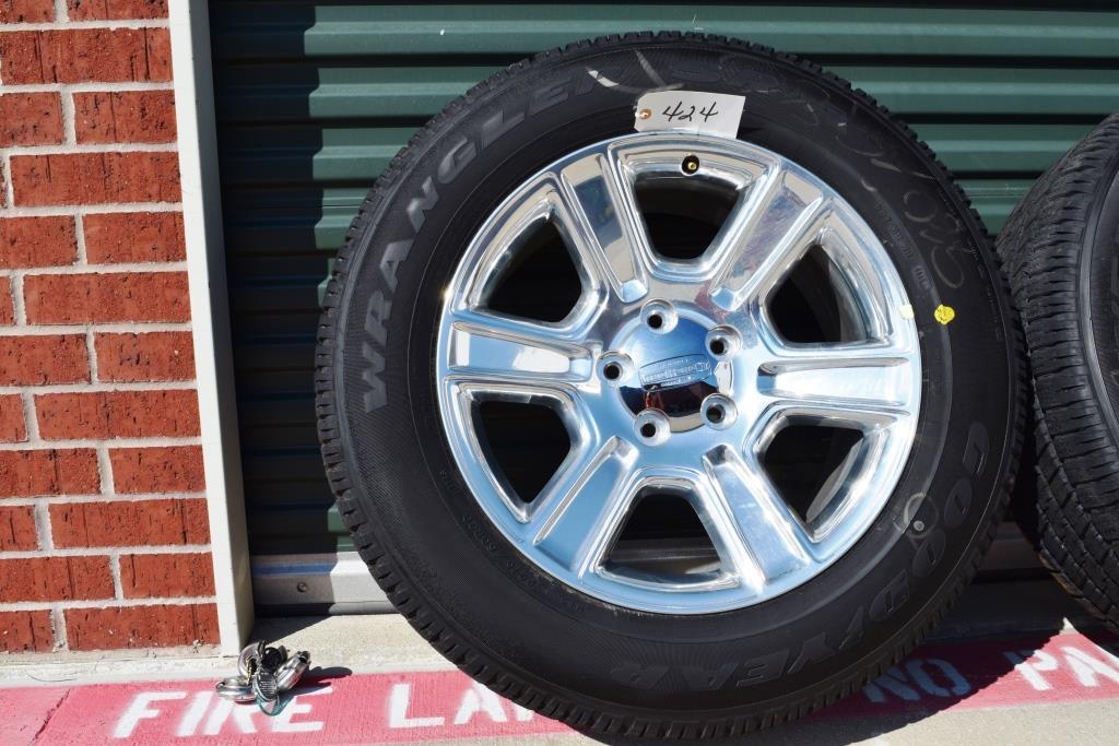 dodge 20 inch polish laramie longhorn wheels tires