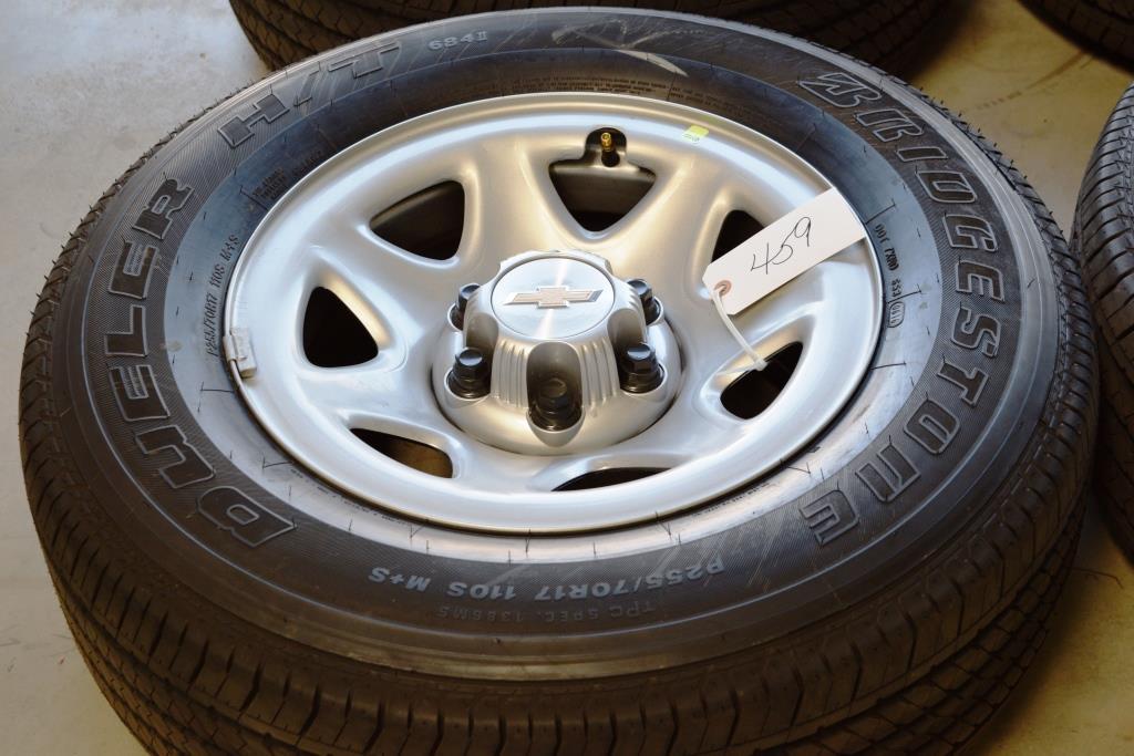 chevy 17 inch steel wheels