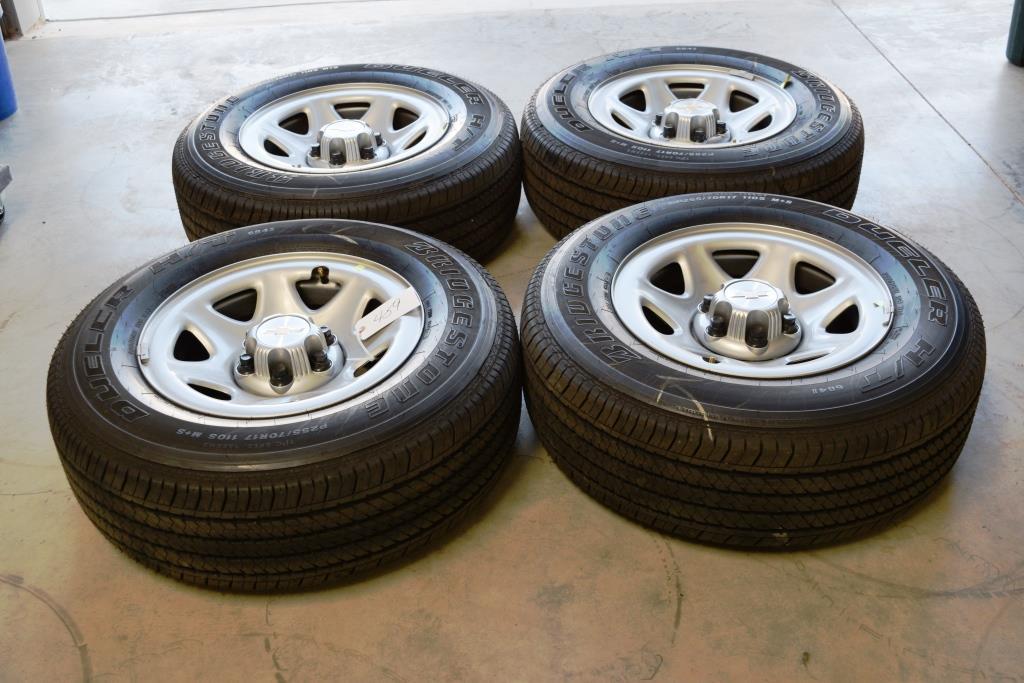 chevrolet oem factory 17 inch steel wheels tires