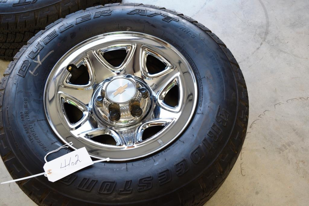 chevy 17 inch steel wheels at tires