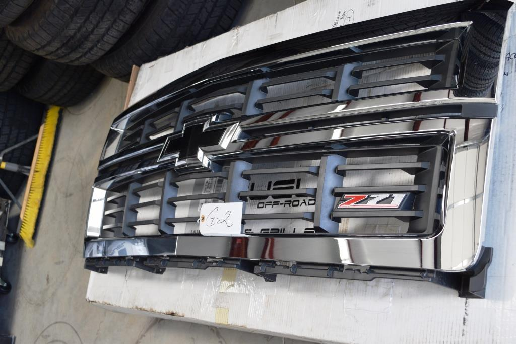 chevy z71 black chrome front grill