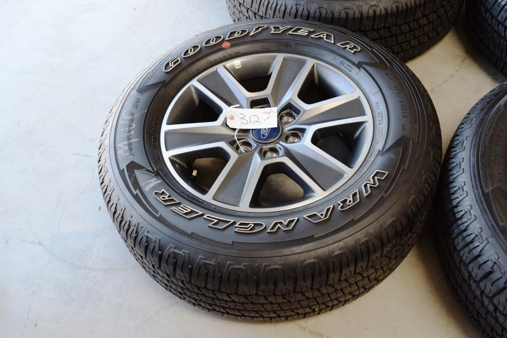 ford f150 18 inch fx fx4 grey oem factory wheels tire package