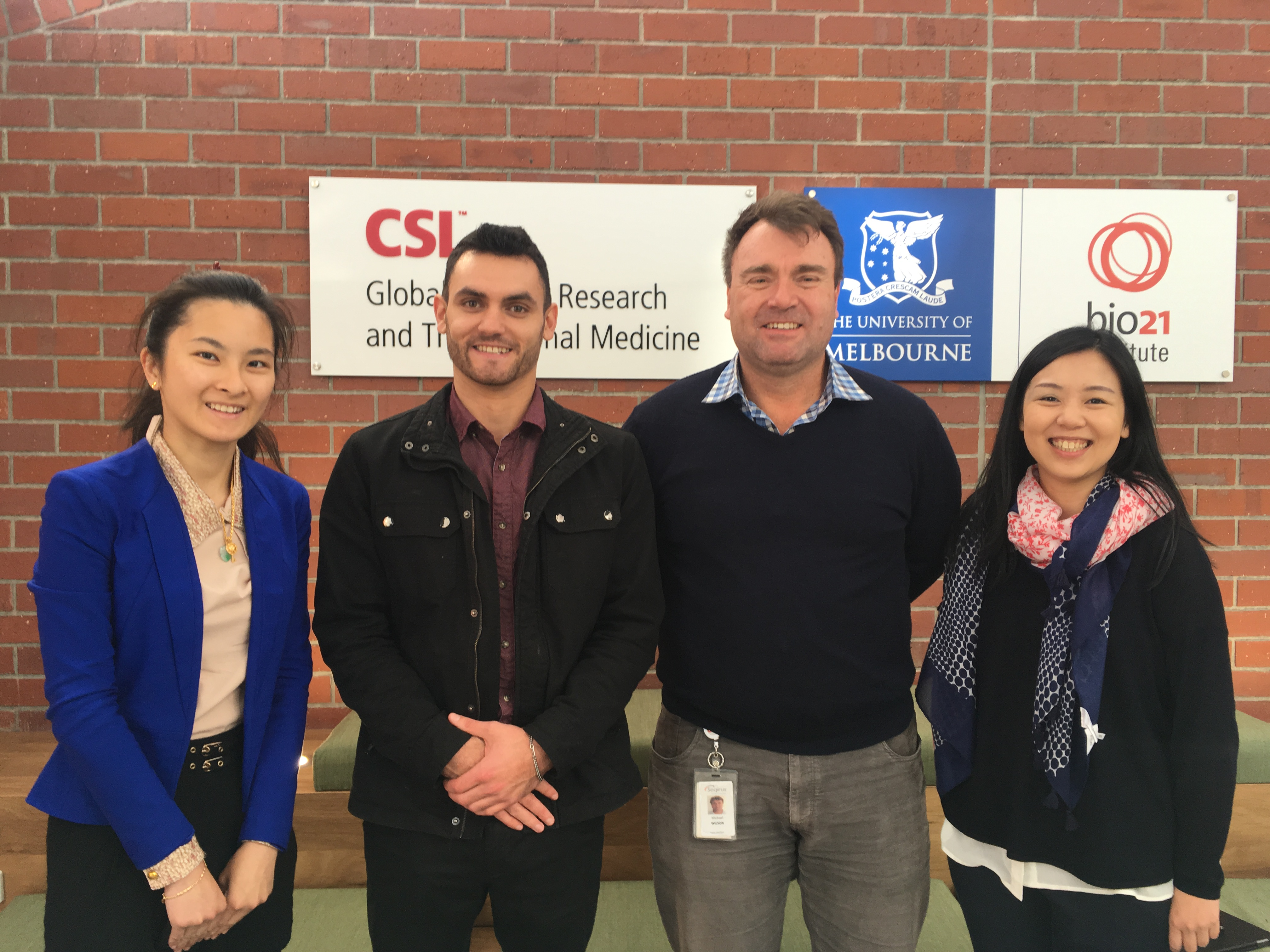 IMNIS mentees visit the new CSL labs