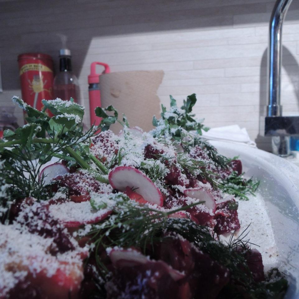 Salade de betteraves du Qc.