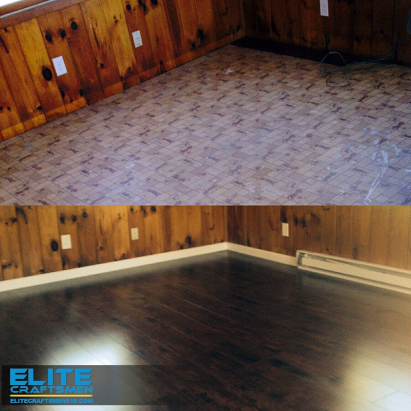Flooring Remodeling Before and After by Elite Craftsmen