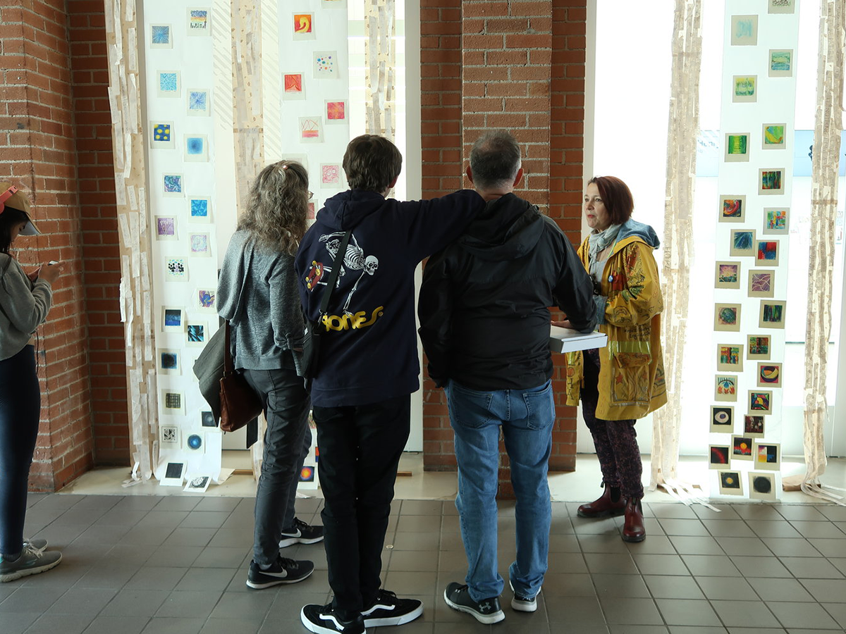 Students at Art Opening