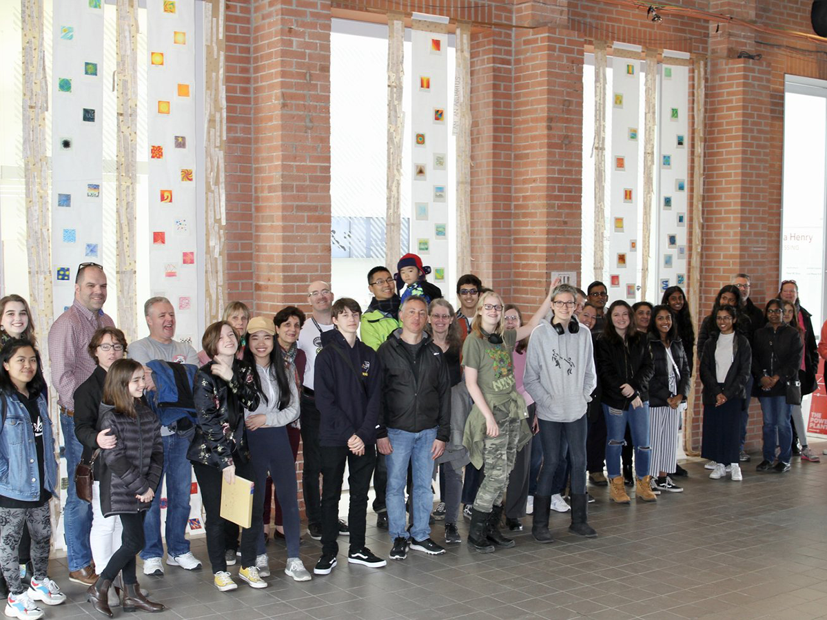 Students at Art Opening