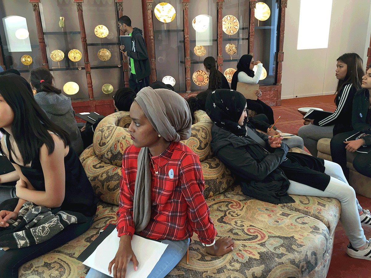 Students at museum
