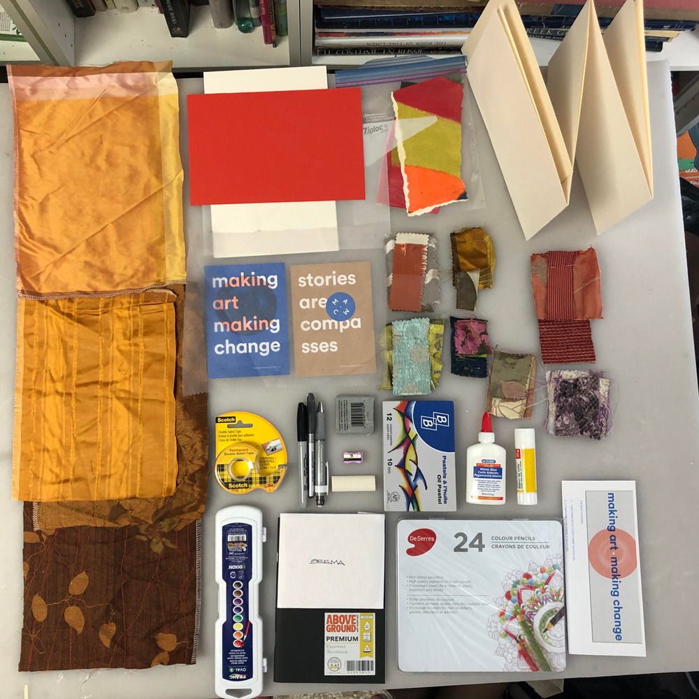 Materials contained in the box
