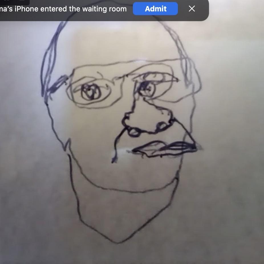 Wayne-Continuous-Line-Drawing-