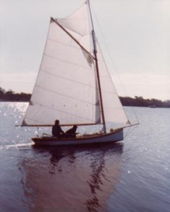 A boat liked Luna, only still gaff rigged