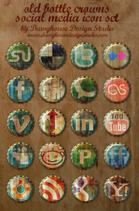 Old Bottle top icons